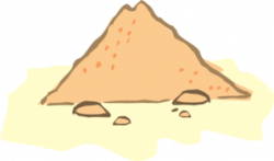 Dune clipart pile sand