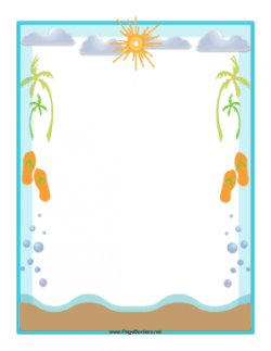 Seashore clipart border