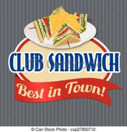 Sandwich clipart club sandwich