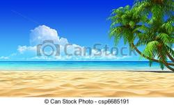 Resort clipart sandy beach