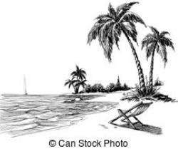 Shore clipart black and white