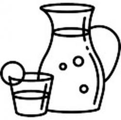 Sangria clipart black and white