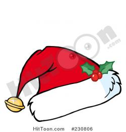 Santa Hat clipart holly