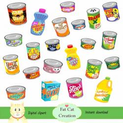 Sardines clipart canned goods