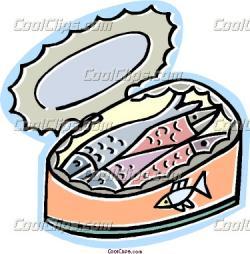 Sardine clipart packed