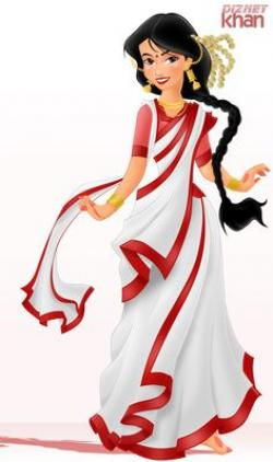 Saree clipart cartoon