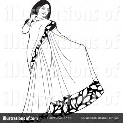 Saree clipart fashion illustration