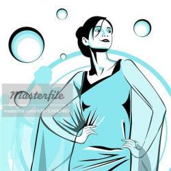 Saree clipart fashion lady