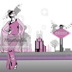 Saree clipart fashion modeling