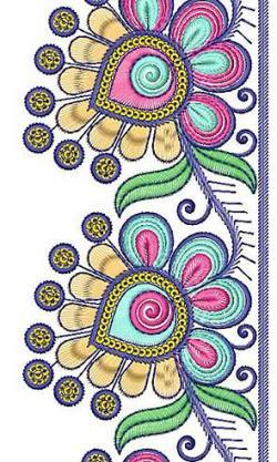 Saree clipart frock border design art