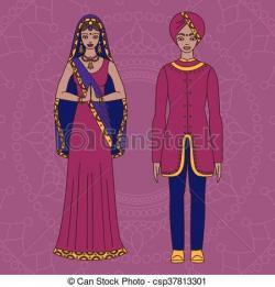 Saree clipart hindu man