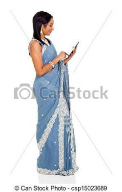 Saree clipart indian person
