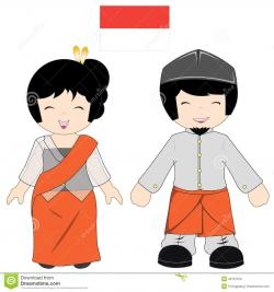 Saree clipart indonesian person
