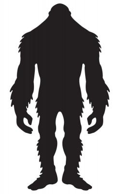 Sasquatch clipart bigfoot footprint