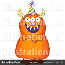 Sasquatch clipart orange monster