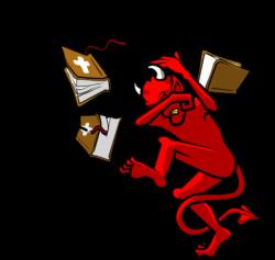 Satanic clipart bad guy