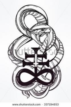 Satanic clipart desert snake