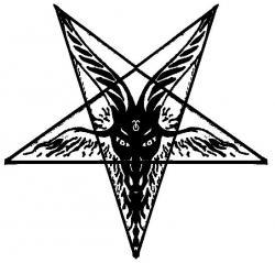 Satanism clipart goat head