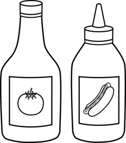 Ketchup clipart black and white