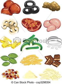 Ham clipart pizza topping