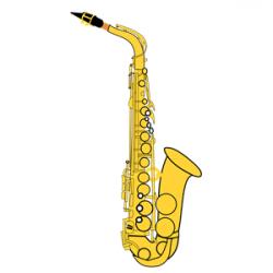 Saxophone clipart alto saxophone