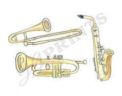 Brass clipart trombone