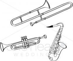 Saxophone clipart brass instrument