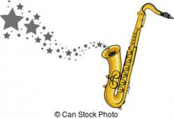 Saxophone clipart christmas