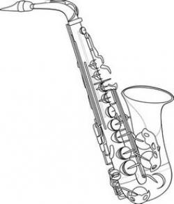 Saxophone clipart drawn