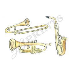 Brass clipart music instrument