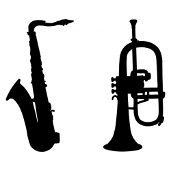 Saxophone clipart silhouette