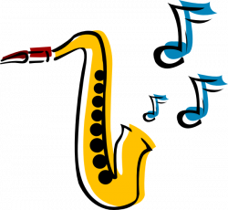 Saxophone clipart simple