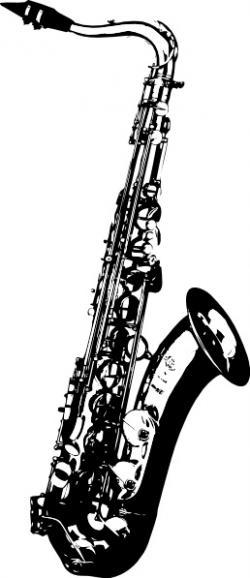 Saxophone clipart vector