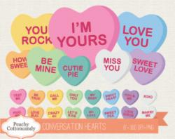 Saying clipart candy heart