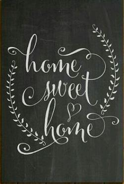 Typography clipart sweet house