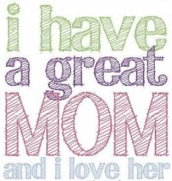 Saying clipart i love my mom