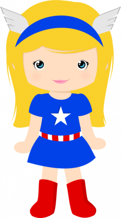 Super Girl clipart captain america