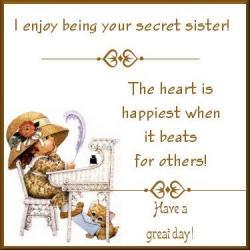 Hiding clipart secret sister