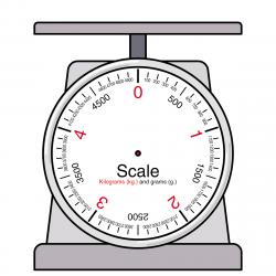 Right clipart weighing scale