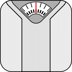 Medical clipart weight scale