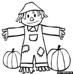 Scarecrow clipart coloring