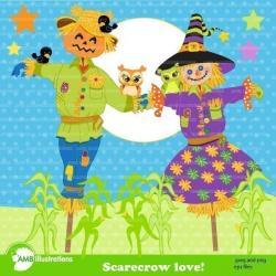 Scarecrow clipart couple