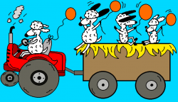 Harvest clipart tractor