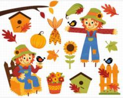 Scarecrow clipart harvest