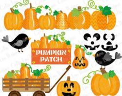 Harvest clipart pumpkin patch