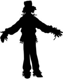 Scarecrow clipart silhouette