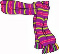 Snowman clipart scarf