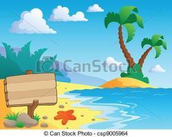 Seashore clipart summer scenery
