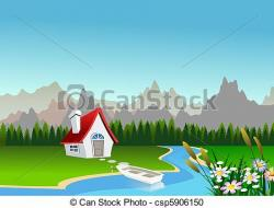 Countyside clipart mountain scenery