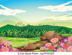 Countryside clipart beautiful scenery